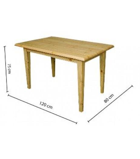 Täispuidust laud 80*120cm